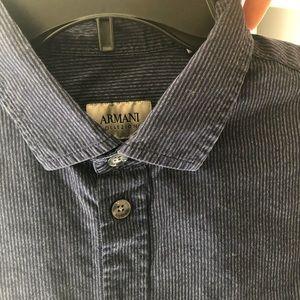 Navy blue stripped Armani Collezioni dress shirt